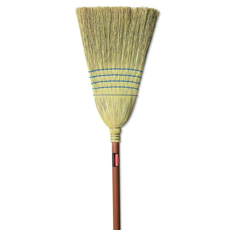 Rubbermaid Commercial 6383 Corn-Fill 38 in. Handle Warehouse Broom - BL New