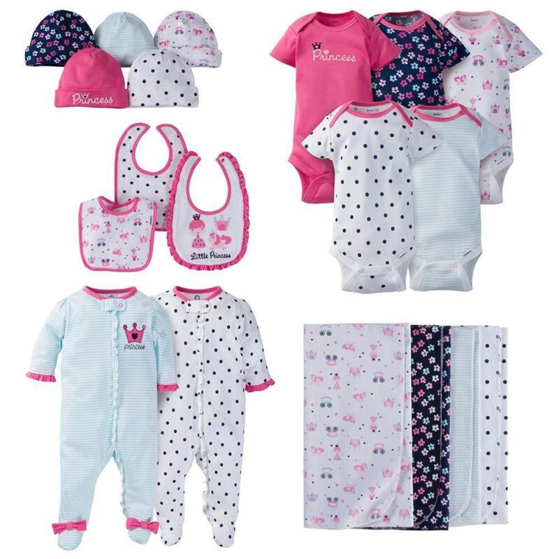 Gerber Baby Girl 19 Piece Essentials Gift Set, Princess