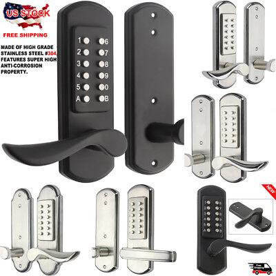 Anti-Theft Smart Mechanical Door Lock Keyless Home Code Keypad Entry 3 Styles US