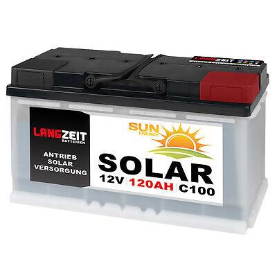 Solarbatterie 12V 120AH Versorgungsbatterie Wohnmobilbatterie BootBatterie 100AH Marine Batterie