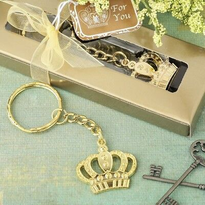 65 Gold Metal Crown Key Chain Mis Quince Anos Quinceanera Princess Party Favors