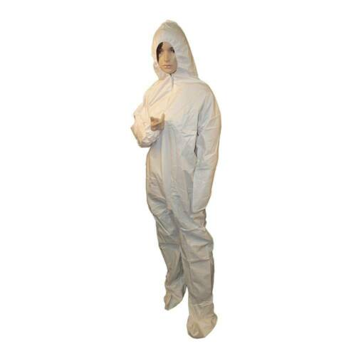 Disposable Coverall Safety Suit, Disinfecting Suit with Hood and Boot