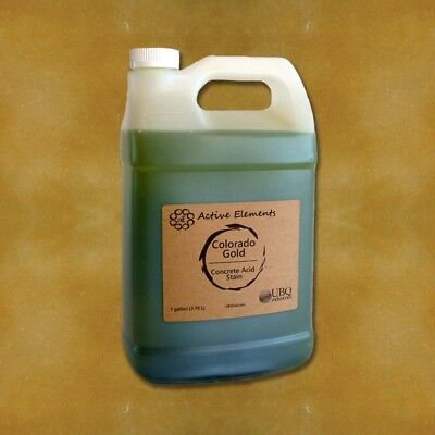 Official Acid Stain - 1 Gallon - Colorado Gold - Golden Yellow