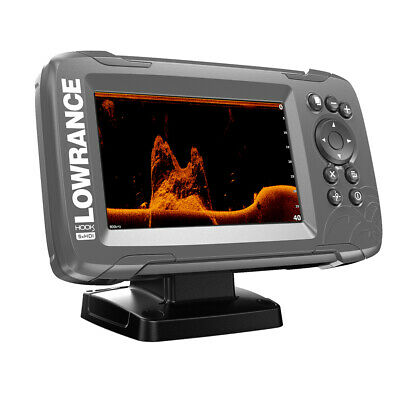 "Lowrance HOOK²-5x 5"" GPS SplitShot Fishfinder w/Track Plotter Transom Mount S..."