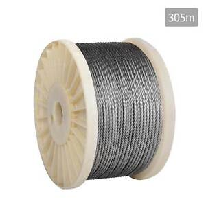 NEW FREE SHIPPING - 7x 7 Marine Stainless Steel Wire Rope 305M Silverwater Auburn Area Preview
