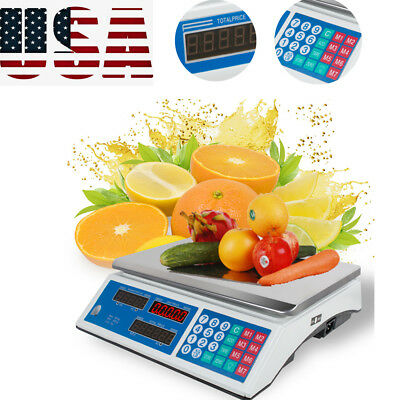 Digital Weight Scale Price Computing Retail Food Meat Scales Count Scale Tool Us