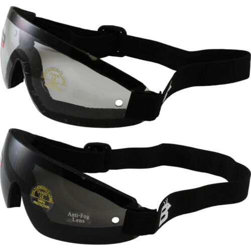 12 SKYDIVE GOGGLES SKYDIVING PARACHUTE 6 CLEAR 6 SMOKE LENS