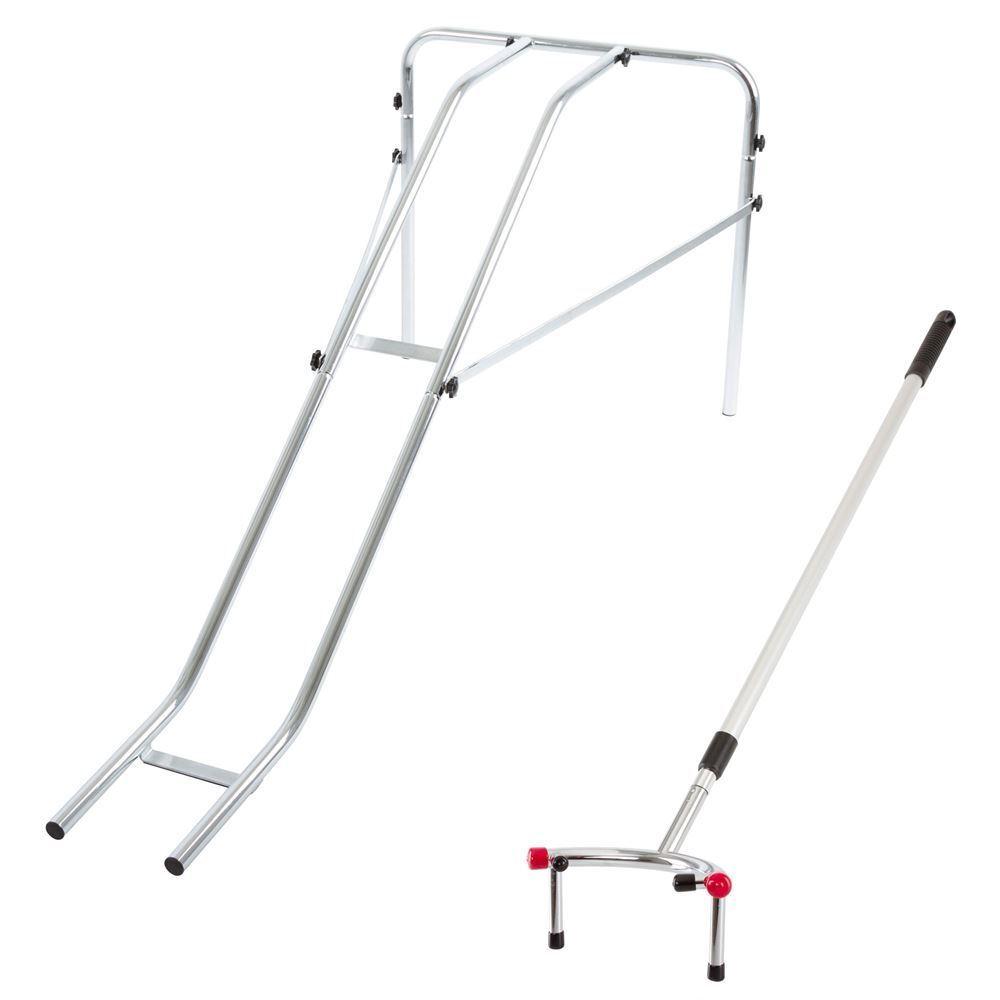 Bowling Ball Ramp & Pusher Wheel Chair Scooter Access Portable Non Scratch Feet