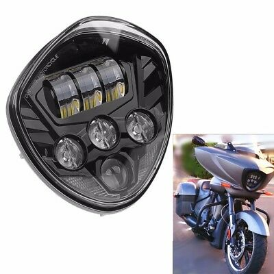 Black LED Headlight for Victory Magnum Hammer Vegas Motorcycle