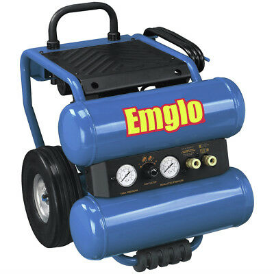 Emglo Em8104mr 1.1 Hp 4 Gallon Oil-lube Twin Stack Air Compressor Reconditioned