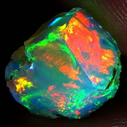 Natural Ethiopian Opal Rough Jumbo Fire Untreated Loose Gemstone DP15 DP16
