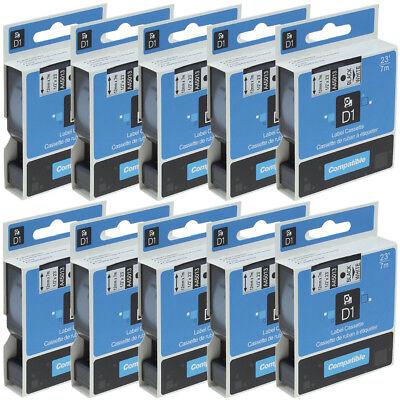 10pk 45013 Compatible Dymo D1 Cassette Label Tape 12 Labelmanager 100 White