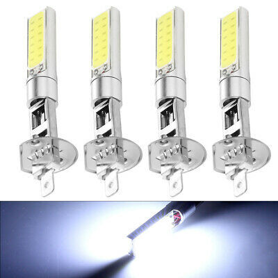 H1 COB LED 4Pcs Car Headlight Hi/Lo Beam DRL Driving Light Bulb White 6000K NEW