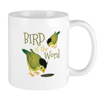 Bird is the Word 15oz Ceramic White Coffee mug