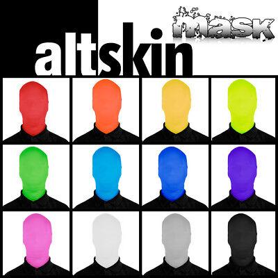 NEW! ALTSKIN ZENTAI MASK - SPANDEX/LYCRA COSTUME FACE - GREEN MAN - 2 SIZES](2 Man Costumes)