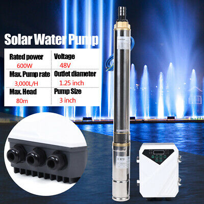 3 Dc Solar Water Pump 48v 600w Submersible Deep Bore Well Pump Controller Kit
