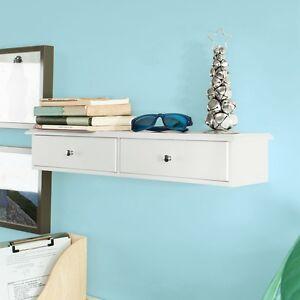 SoBuy® Wandschrank,Hängeschrank,Wandgarderobe mit 2 Schubladen,FRG43-W