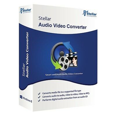 Stellar Audio & Video Converter to MP3 MPG MP4 MKV FLV AVI 3GP WMV WAV WMA +++