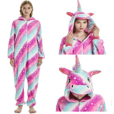 Adult Animal Unicorn Pajamas Costumes Cosplay Fleece Onesie0 Bathrobe Sleepwear (Plus Size Onesie)