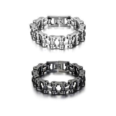 - Men Heavy Sturdy Stainless Steel Motorcycle Bike Chain Bracelet Biker Wristband