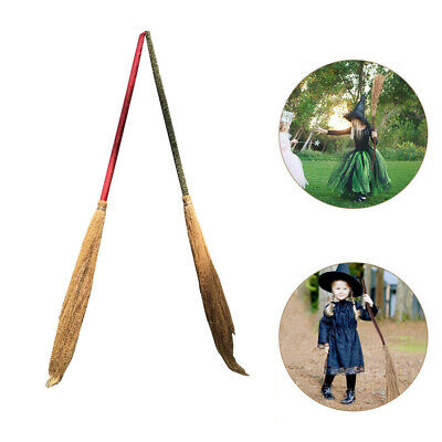 Halloween Broom Costume (Witch Broom Costume Wizard Cosplay Halloween Party Straw Props for Adults)