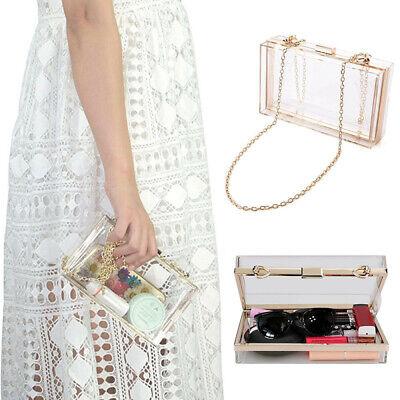 Women Lady Girl Fashion Clear Acrylic Evening Clutch Handbag Shoulder Bag Evening Clutch Handbag Shoulder Bag