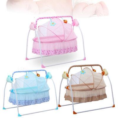 Electric Baby Crib Cradle Auto Rocking Chair Newborns Bassin
