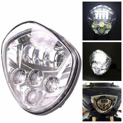 CHROME LED MOTORCYCLE HEADLIGHT KIT FOR <em>VICTORY</em> CROSS COUNTRY HALO ANG