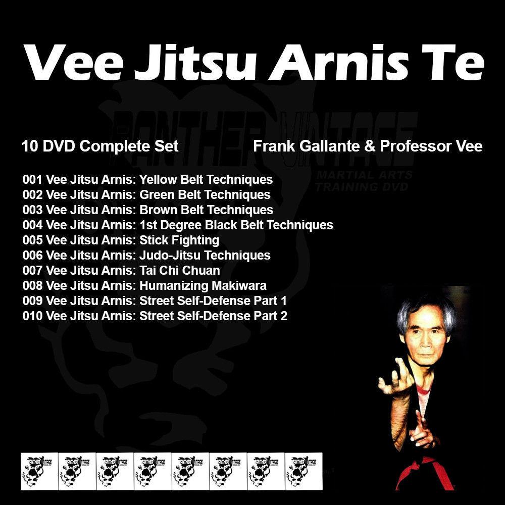 как выглядит Vee Jitsu Arnis Te with Professor Vee and Frank Gallante 10 DVD Set фото