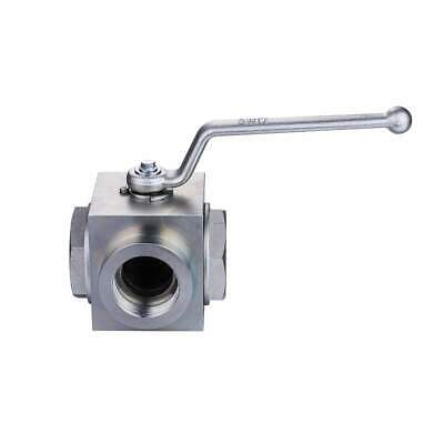 Hydraulic Ball Valve 3 Way 1 Npt 4560 Psi Carbon Steel