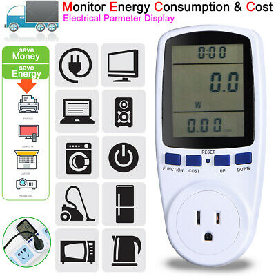 New Digital Power Saving Energy Monitor Watt Amp Volt Kwh Meter Analyzer Us Plug
