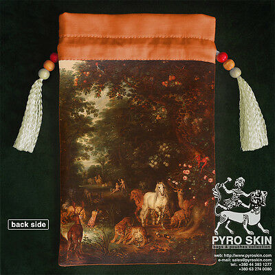 """Edem"" double-sided silk bag for Tarot or any magical accessories"