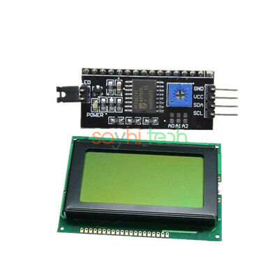 5v 12864 Yellow Green Lcd Display 128x64 1602 Lcd Iici2cspi Serial For Arduino