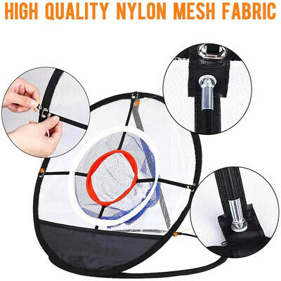 Outdoor Golf Chipping Pop-up Pitching Practice Training Net Portable Aid Bag Net