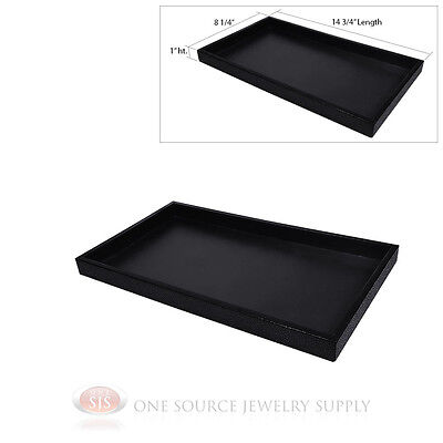 1 Black Plastic Display Sample Tray Jewelry Organizer Travel Stackable Trays