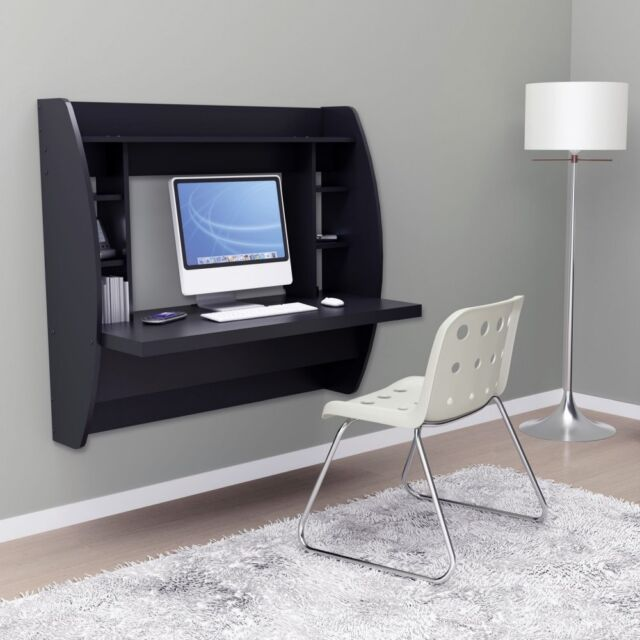 floating office desk. prepac floating desk with storage black office
