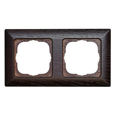 Zwei 2 Holz (Kopp Abdeckrahmen Rahmen Milano Echtholz Wenge 2 fach zweifach Holz Elektro NEU)