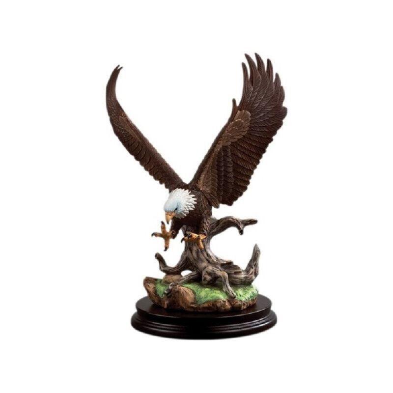Andrea Sadek Ceramic 9.75H HP Bird Porcelain Open Winged Eagle #9762 Retired NIB