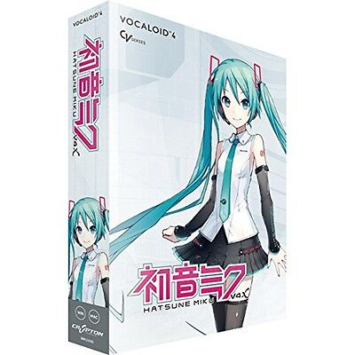 NEW CRYPTON VOCALOID4 Hatsune Miku V4X DVD Software DAW Windows Mac From JAPAN