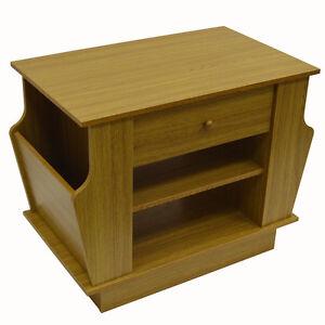 COMPANION - Storage Side / End Table with Magazine Rack - Oak OC8810S