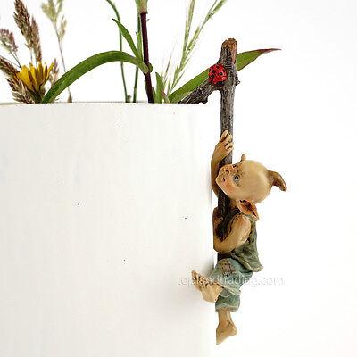 Miniature Fairy Garden Pixie Flower Pot Hugger 4383 / Gnome