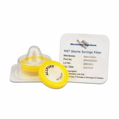 10 X Hydrophilic Nylon Sterile Syringe Filter Diameter25mm Pore Size0.22m
