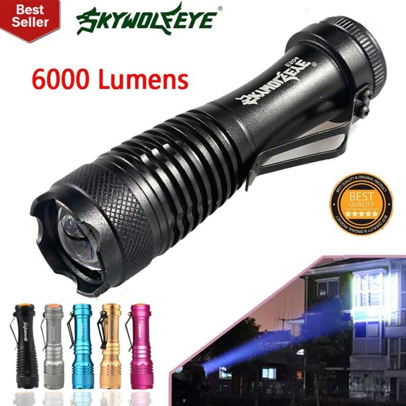 Mini Zoomable 3500LM Q5 LED Flashlight 3 Mode Torch Super Bright Light Lamp