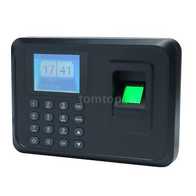 A5 Biometric Fingerprint Password Attendance Time Clock Employee Recorder E0l7