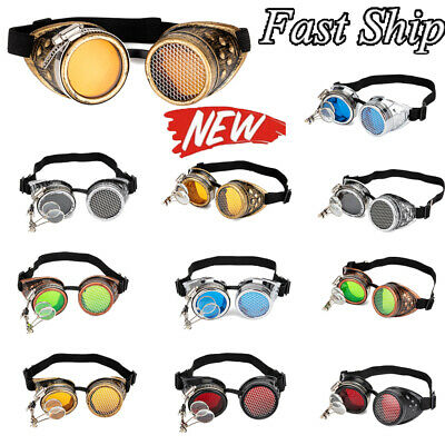 Kaleidoscope Steampunk Goggles Sunglasses Rave Dance Rainbow Crystal Lenses (Sunglasses Dance)