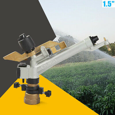 1.5 360 Adjustable Impact Sprinkler Large Area Water Irrigation Spray Gun Tool