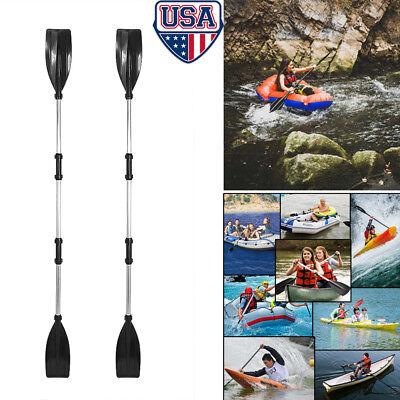 - 1 Pair Aluminum Alloy Detachable Afloat Kayak Oars Paddles Boat Rafting Canoe US