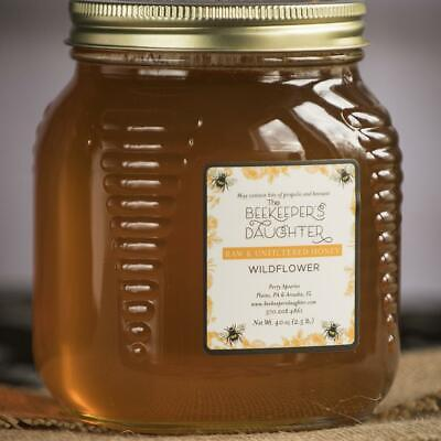 Raw Wildflower Honey by the Beekeeper's Daughter - 2.5 lb Jar (2.5 pound)- 3