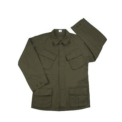 (Rothco 4687 Olive Drab Vintage Vietnam Fatigue Rip-Stop Shirt)