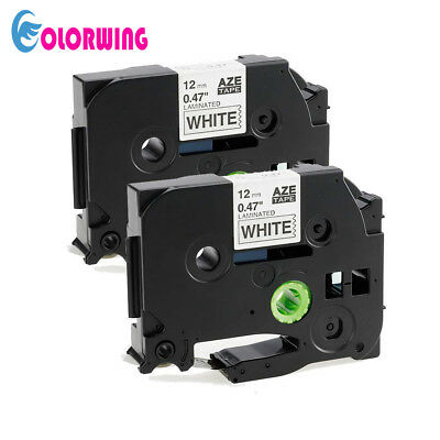 2 Pk Tze-231 Label Maker Tape 12mm Compatible For Brother P-touch Tz-231 Pt-d210